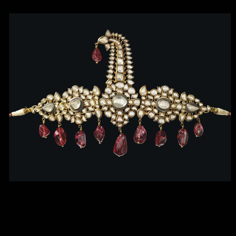 Diamond and Spinel Turban Ornament