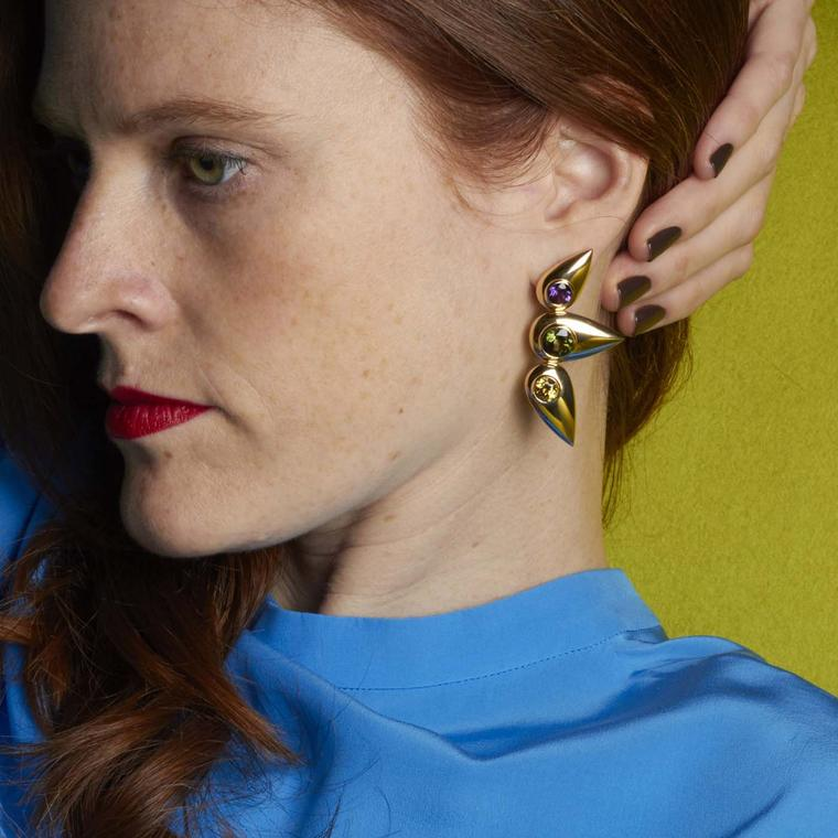 Cora Sheibani Butterfly earrings