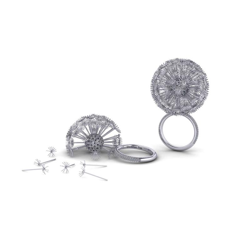 Christian Tse Dandelion platinum ring