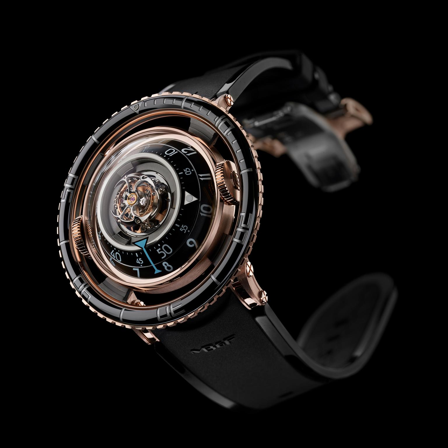 MB&F Aquapod flying tourbillon