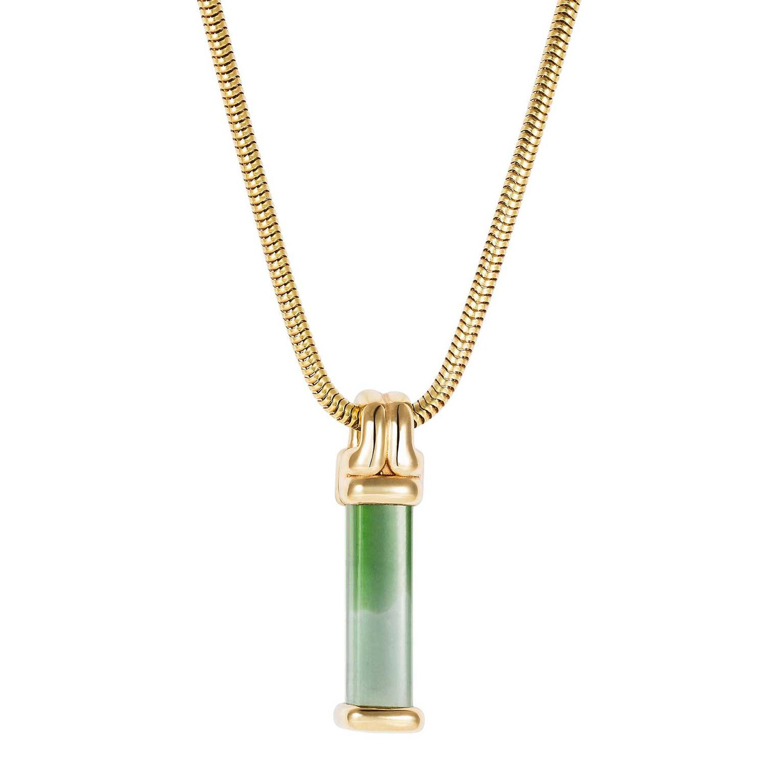 Fernando Jorge Parallel tourmaline Bar pendant