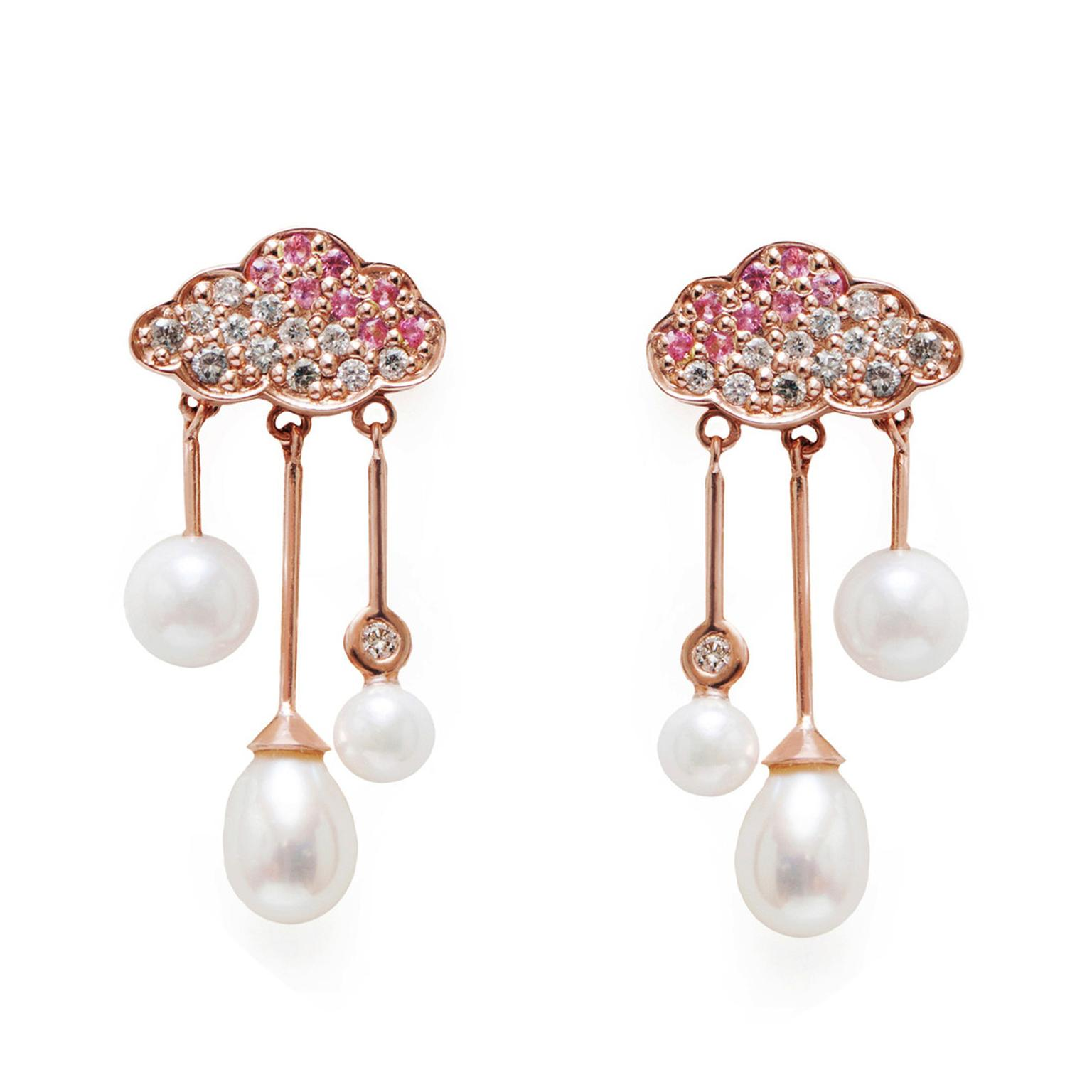 Emily Richardson Cloud Raindrop pearl earrings