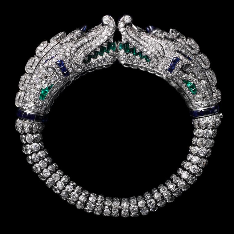 Diamond Chimera bracelet, dating from 1924, from the Cartier Collection