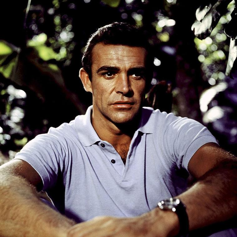Sean Connery as James Bond wearing a Rolex Submariner watch