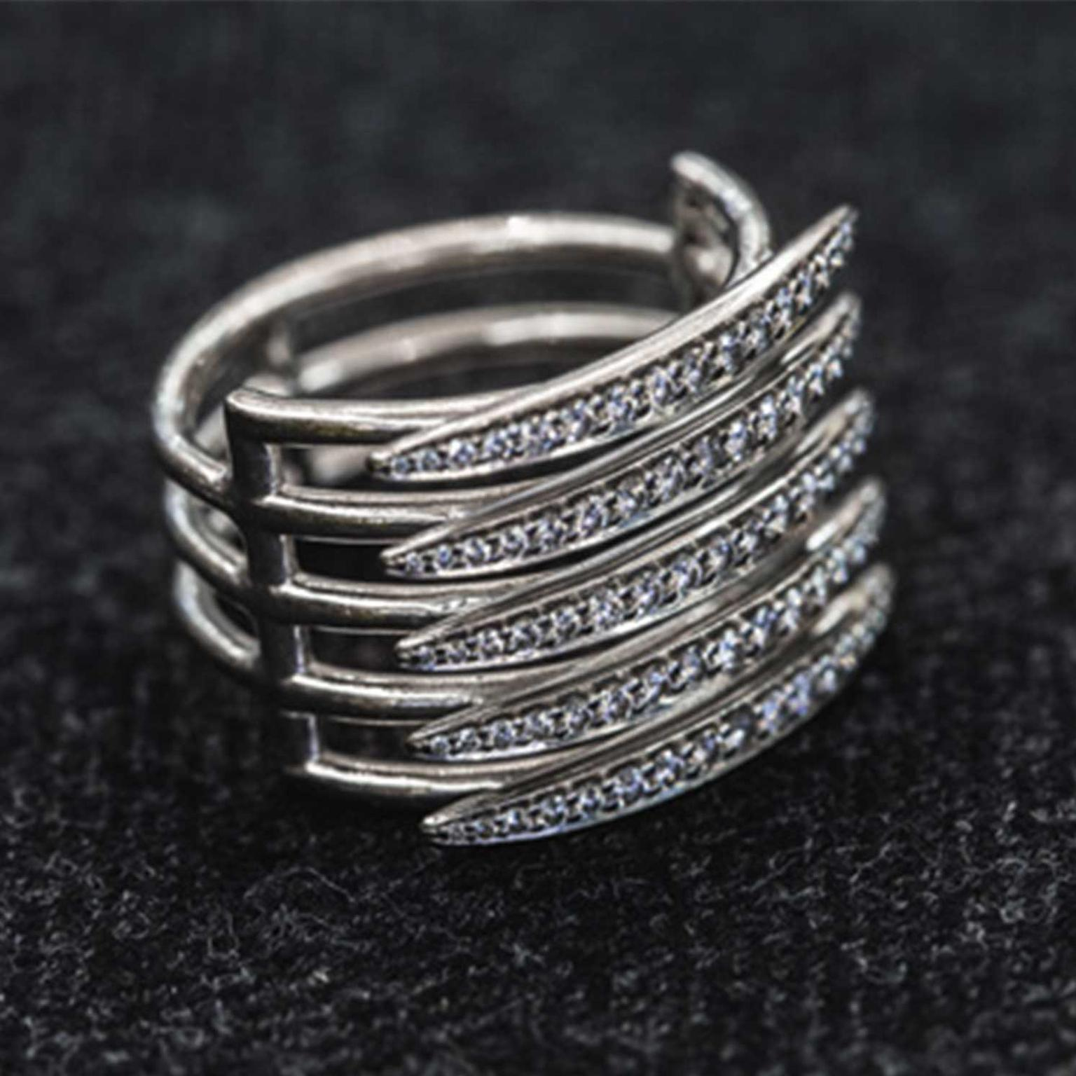 Quill ring for men by Shaun Leane