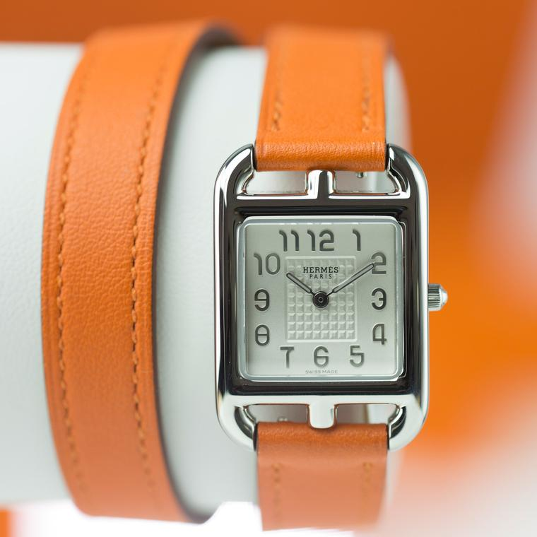Hermes Cape Cod burnt orange watch