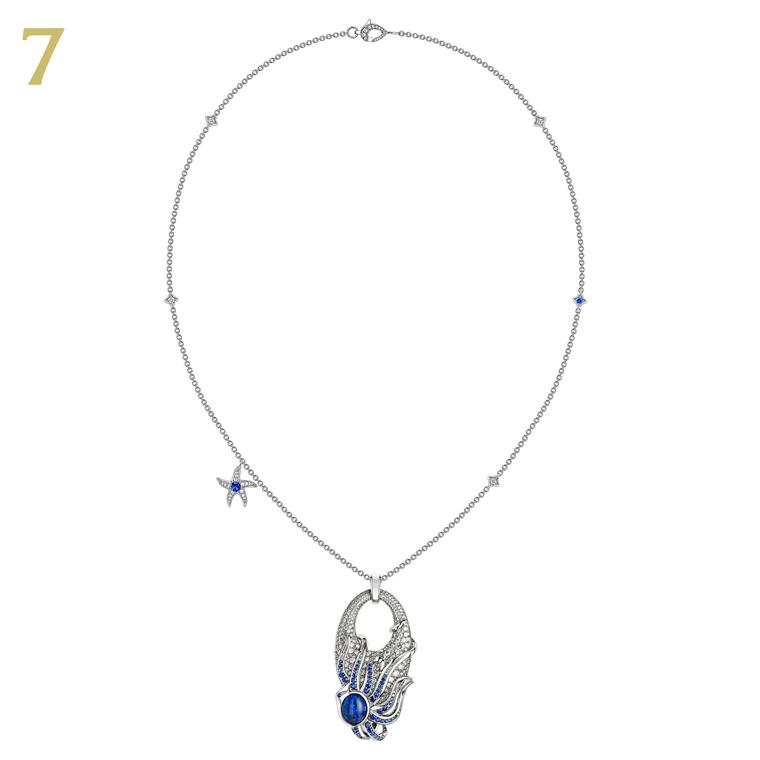 David Marshall's Beach Rocks opal sapphire necklace