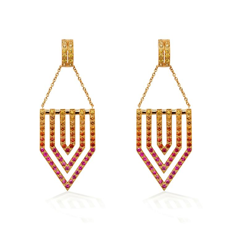 Robinson Pelham multicolour sapphire earrings