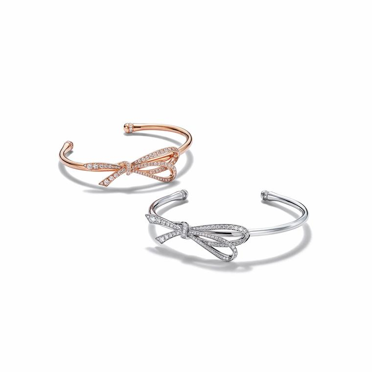 Tiffany Bow cuffs in rose and white gold