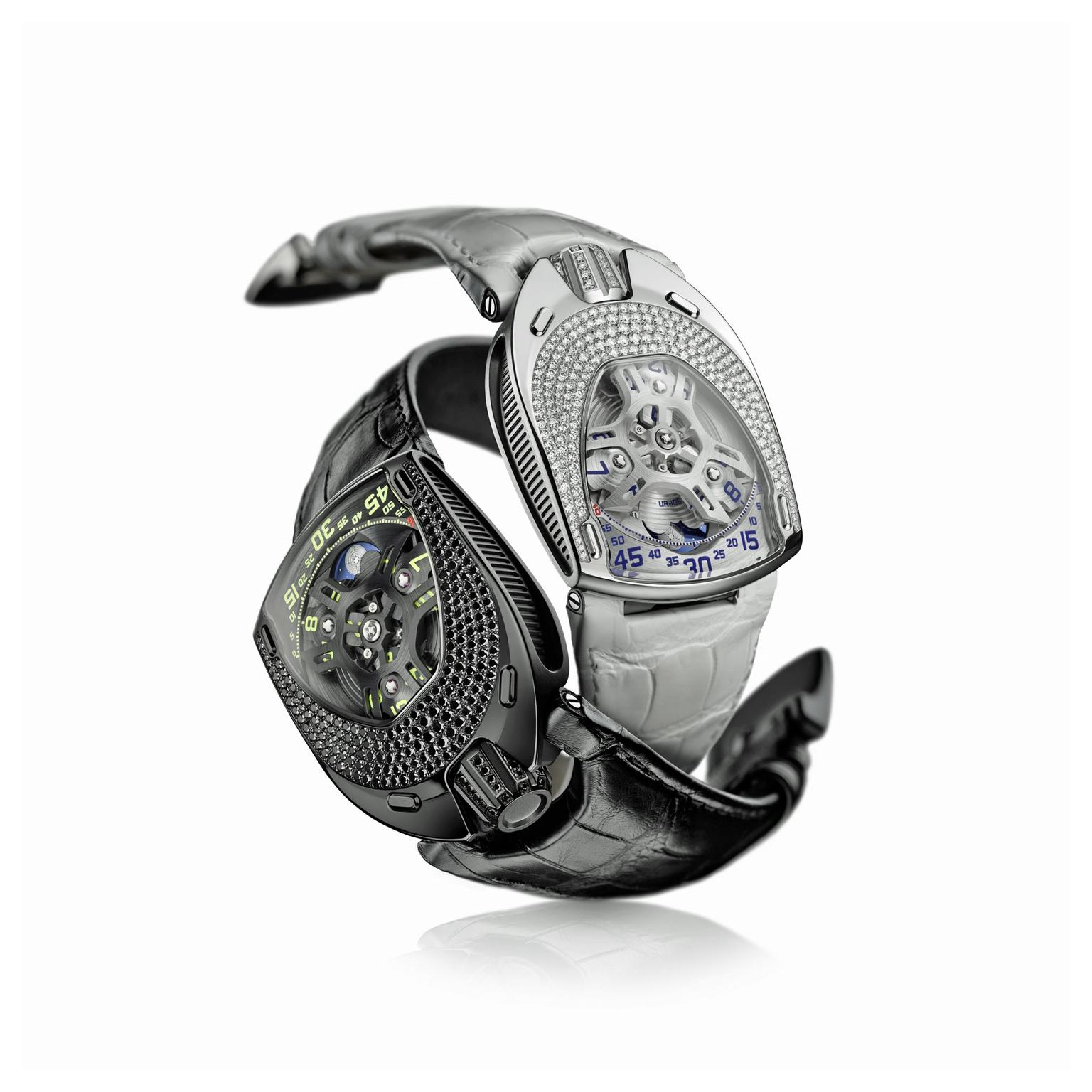 Urwerk UR-106 Lotus and Black watches