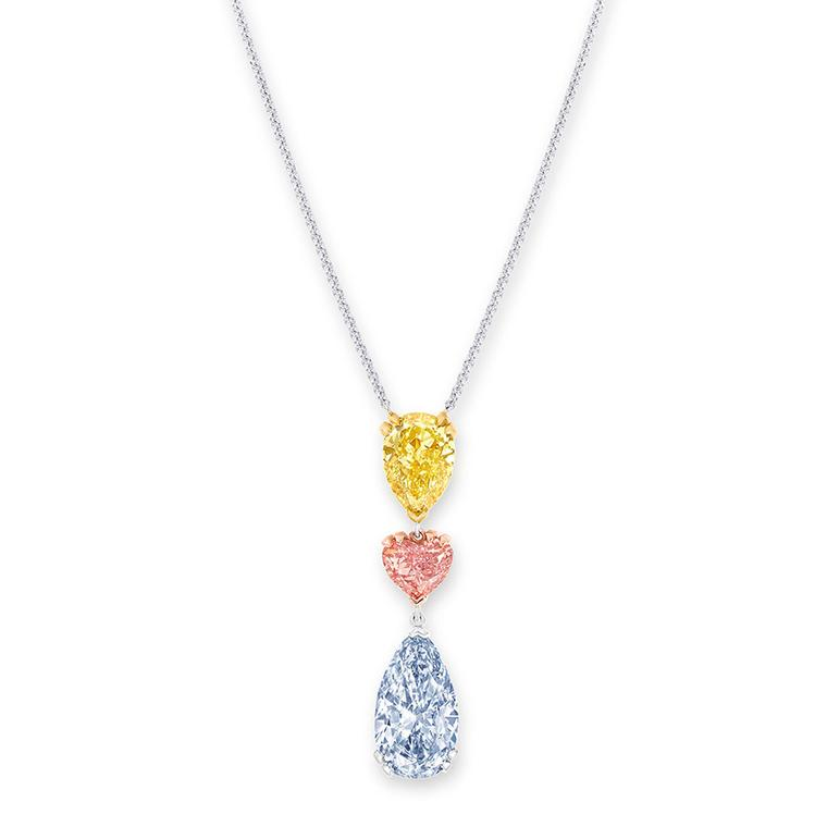 Graff coloured diamond pendant
