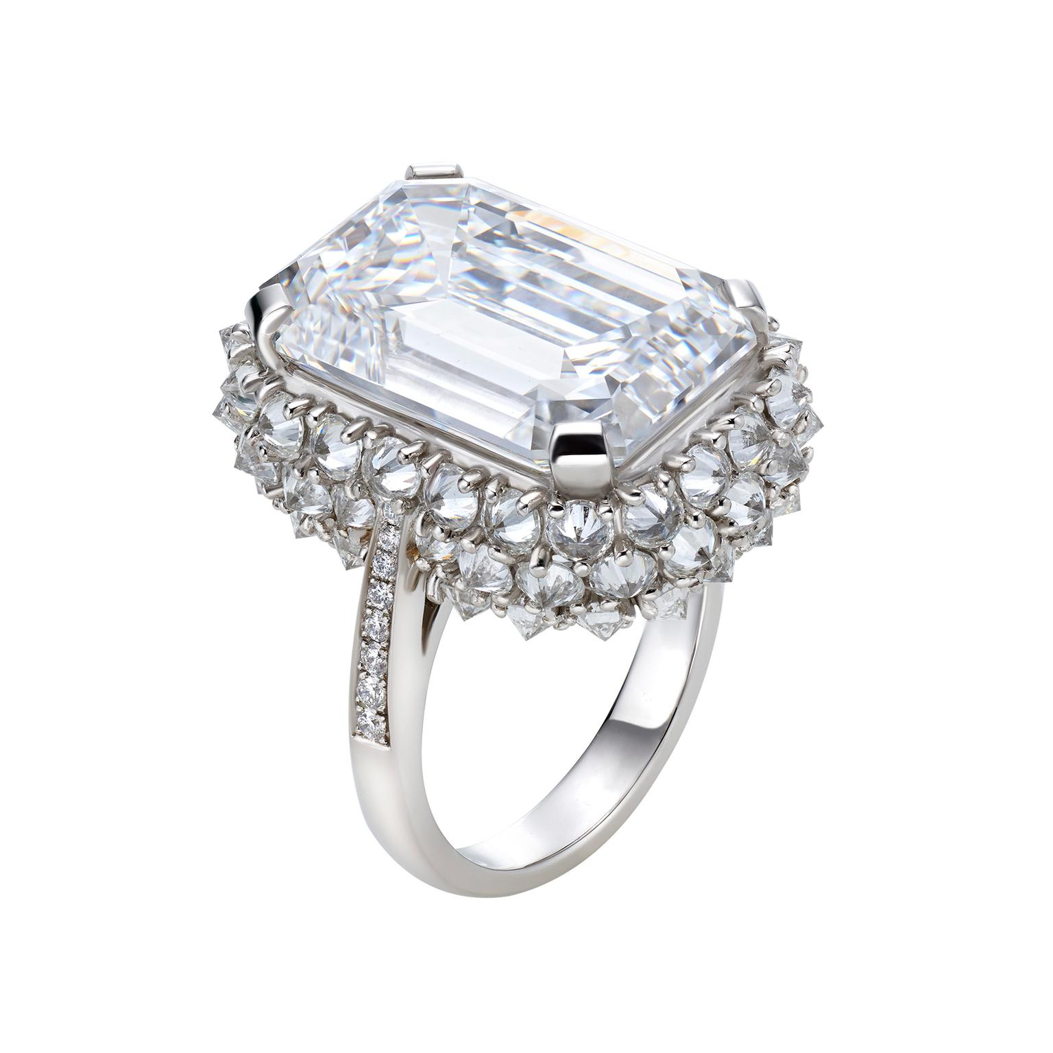 Bulgari Festa Storm emerald-cut diamond ring