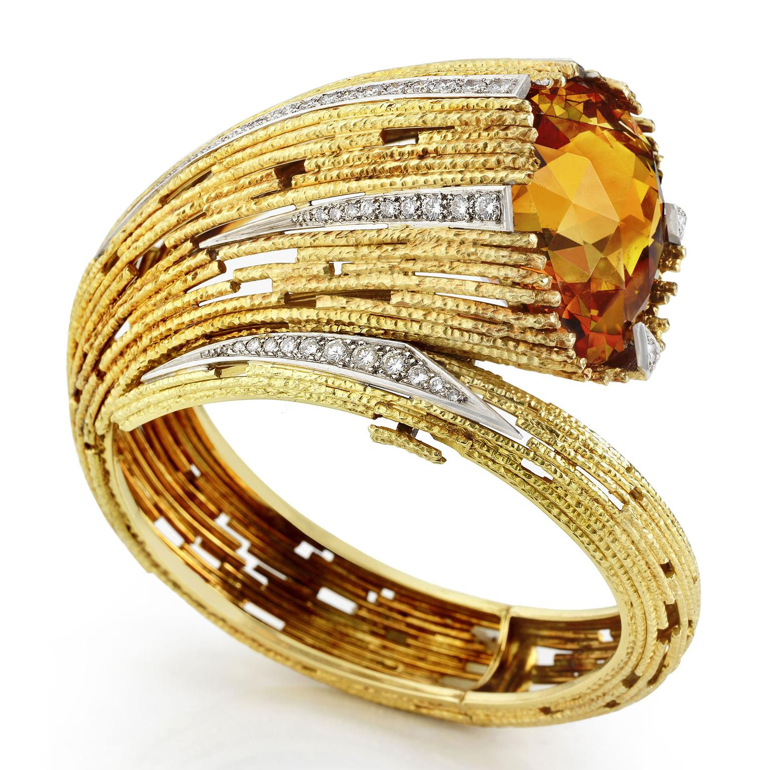 Andrew Grima citrine and diamond bangle