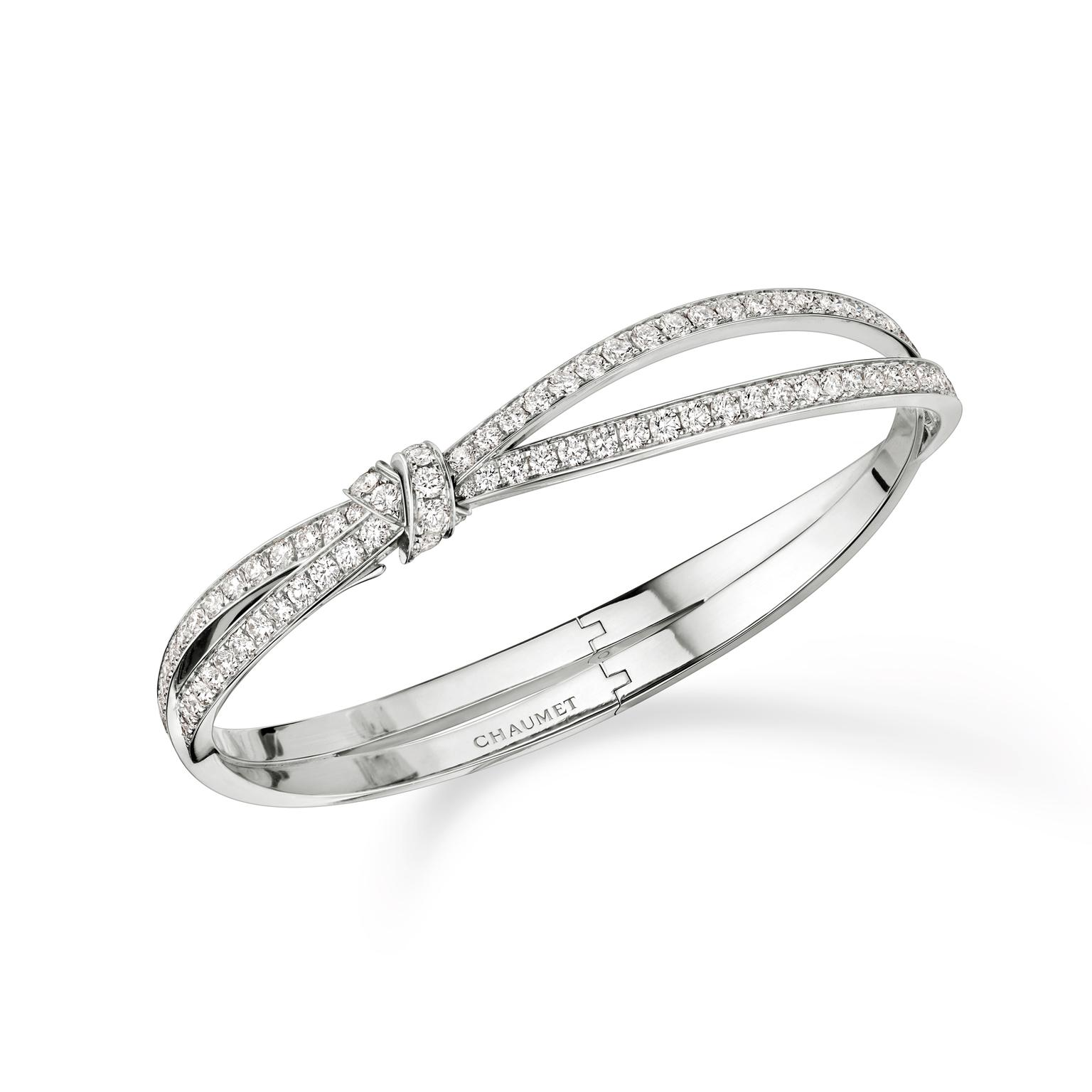 Chaumet Séduction white gold bracelet with diamonds