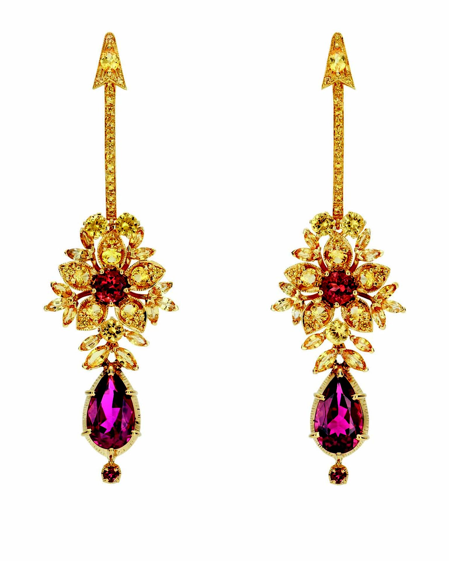 Gucci Hortus Deliciarum Heart & Arrow earrings
