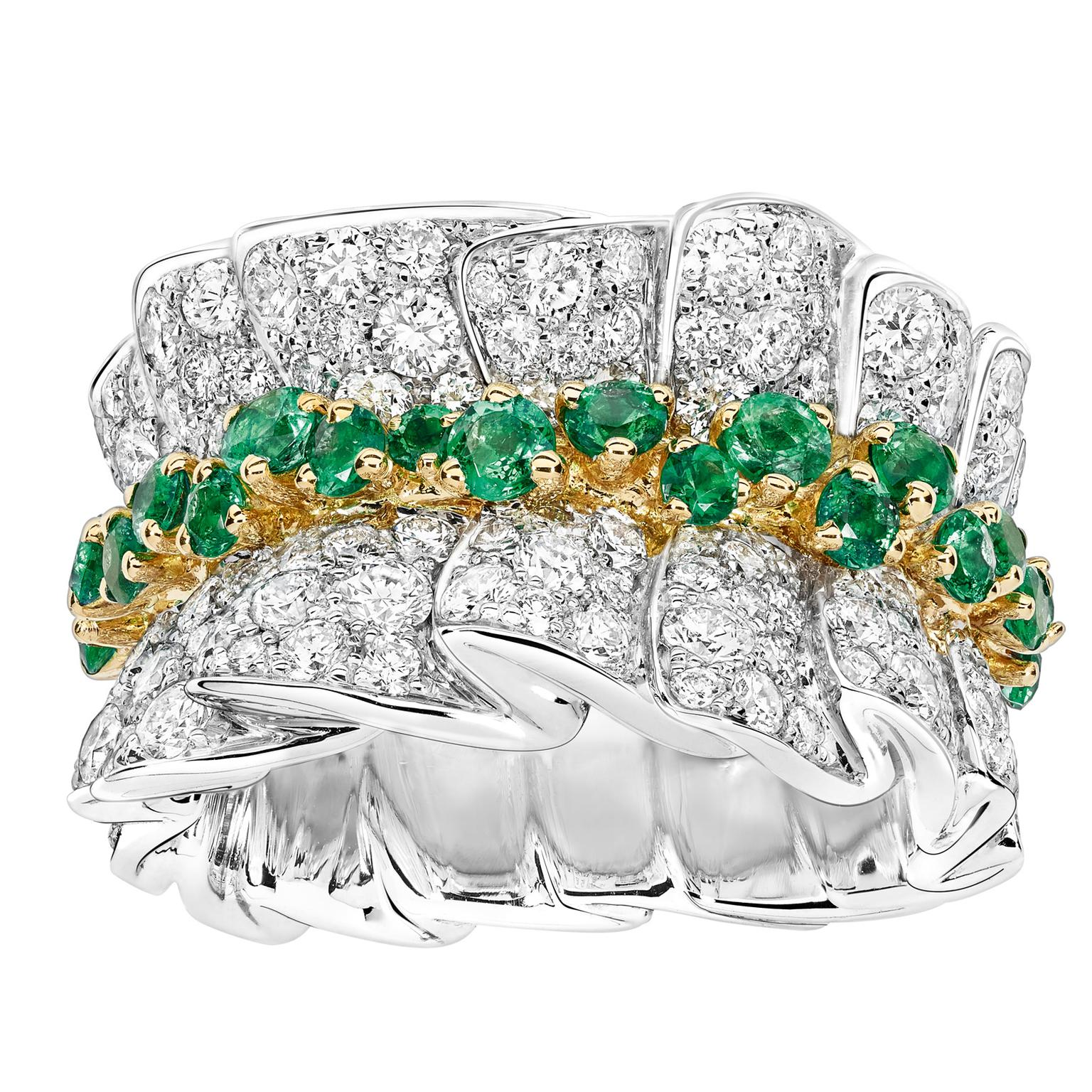 Archi Dior Bar en Corolle emerald and diamond ring