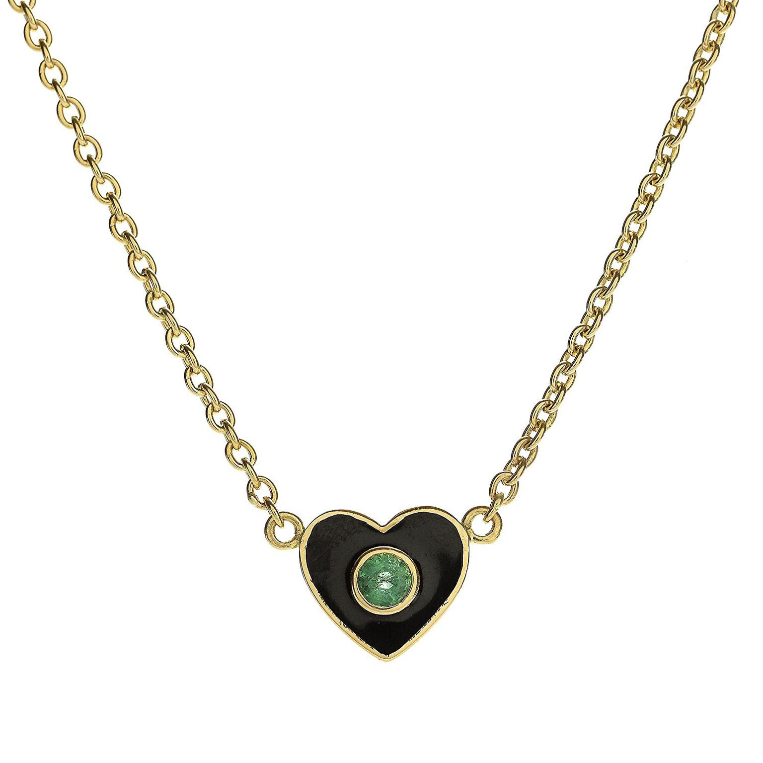 Muse x Gemfields Holly Dyment emerald heart necklace
