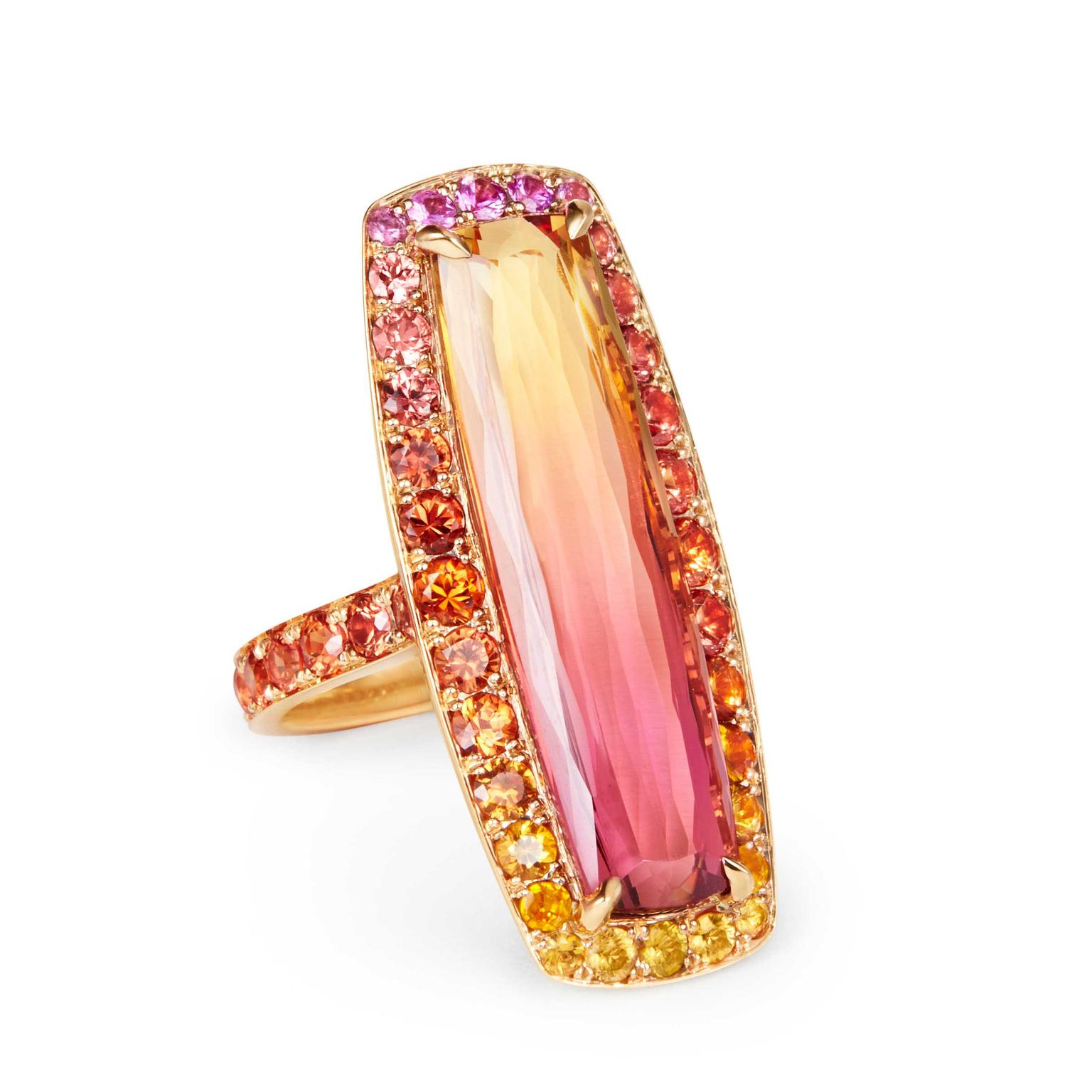 Katherine Jetter bi-coloured topaz ring