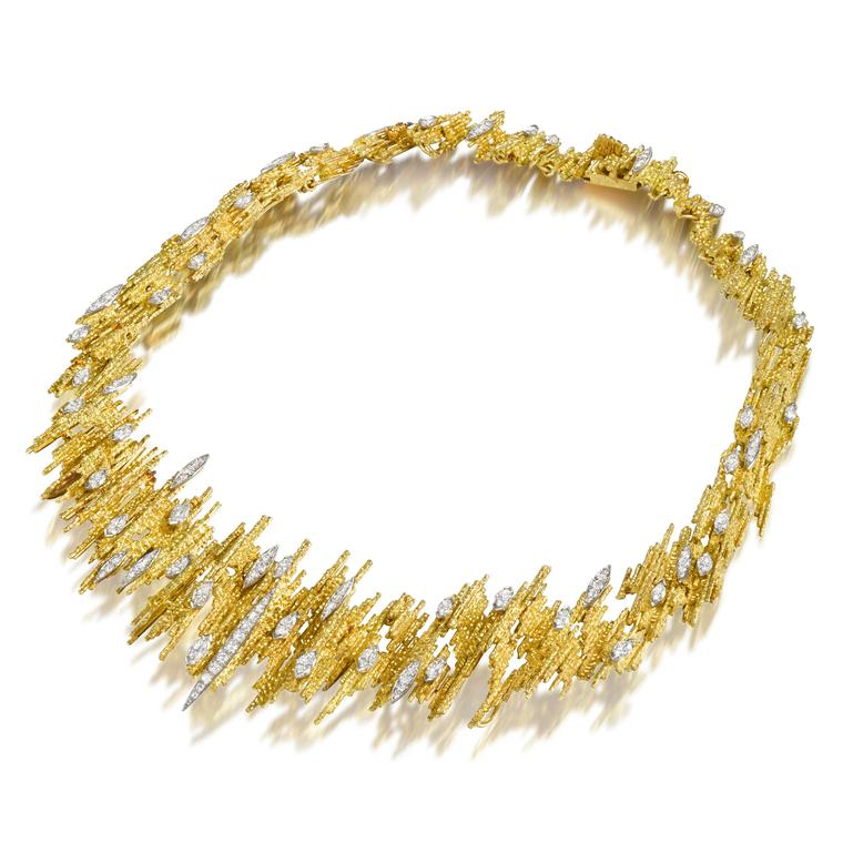 Andrew Grima gold and diamond necklace
