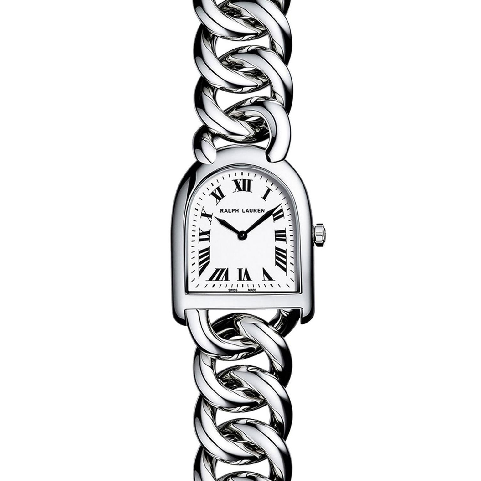 Petite Stirrup watch in stainless steel   Ralph Lauren   The ... 2dfb8787f05