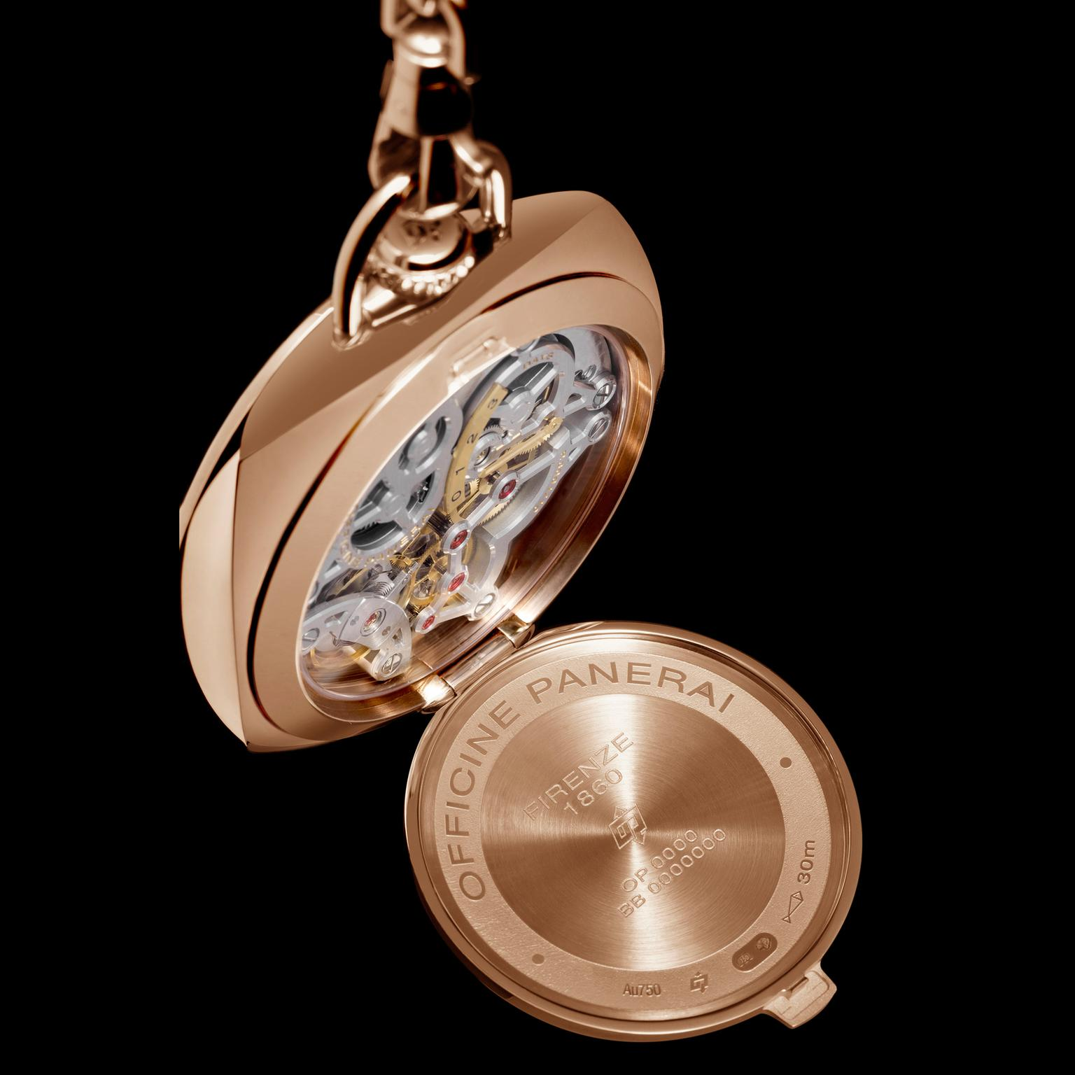 Panerai Pam447 pocket watch open caseback