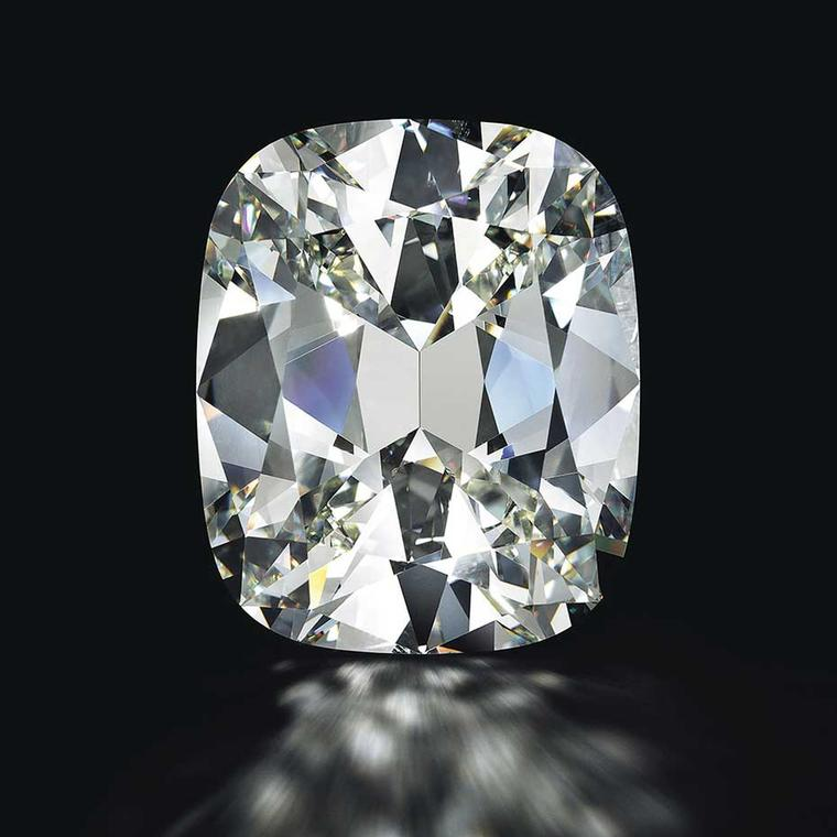 Cushion cut K color 80.73 ct diamond