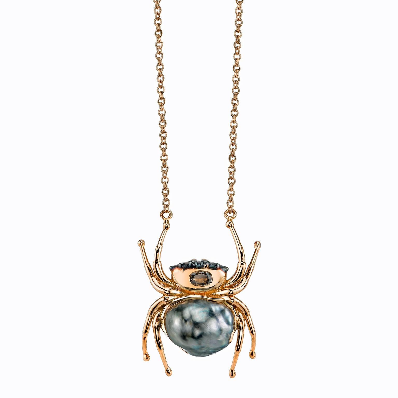 Daniela Villegas spider necklace