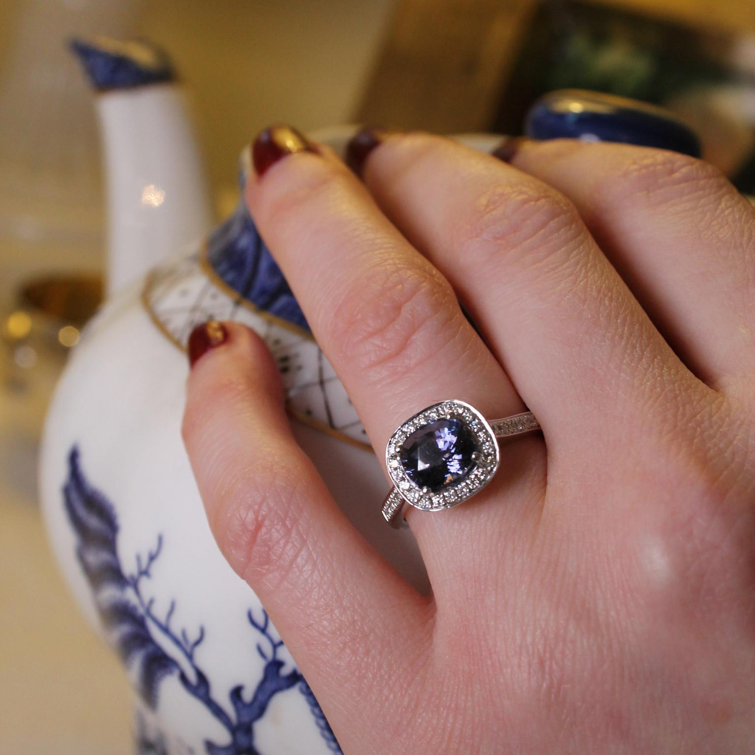 p engagement white gold ring sapphire classic diamond in shaped pear
