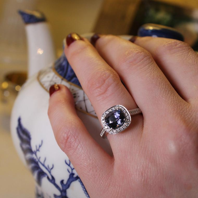 Holts mauve sapphire engagement ring