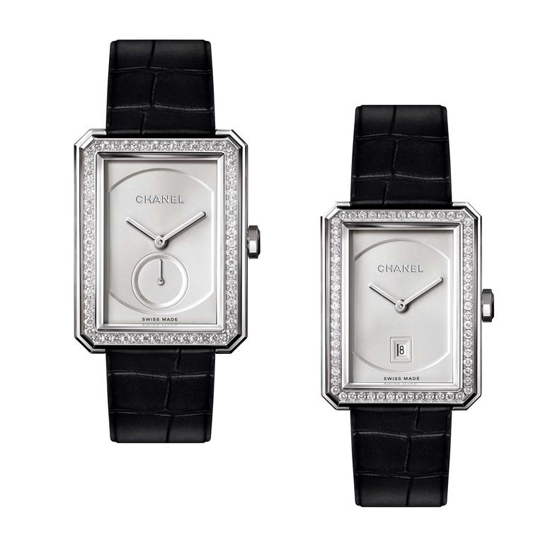Chanel Boy.Friend watch in white gold with automatic and quartz movement