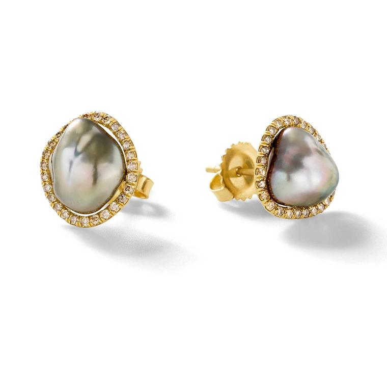 Savannah Stranger Tahitian pearl earrings