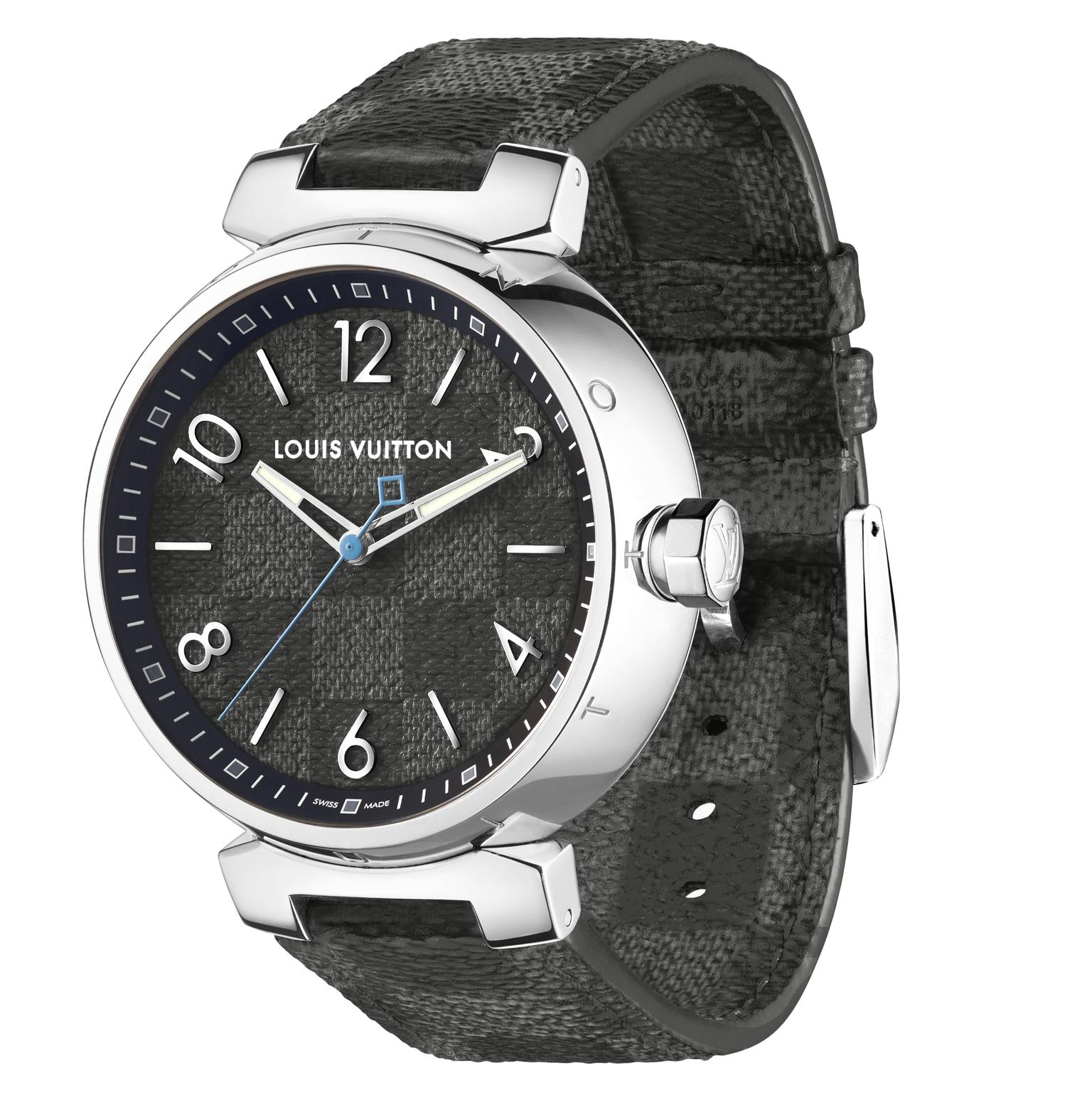 Louis Vuitton Icon Tambour Damier Graphite mens watch