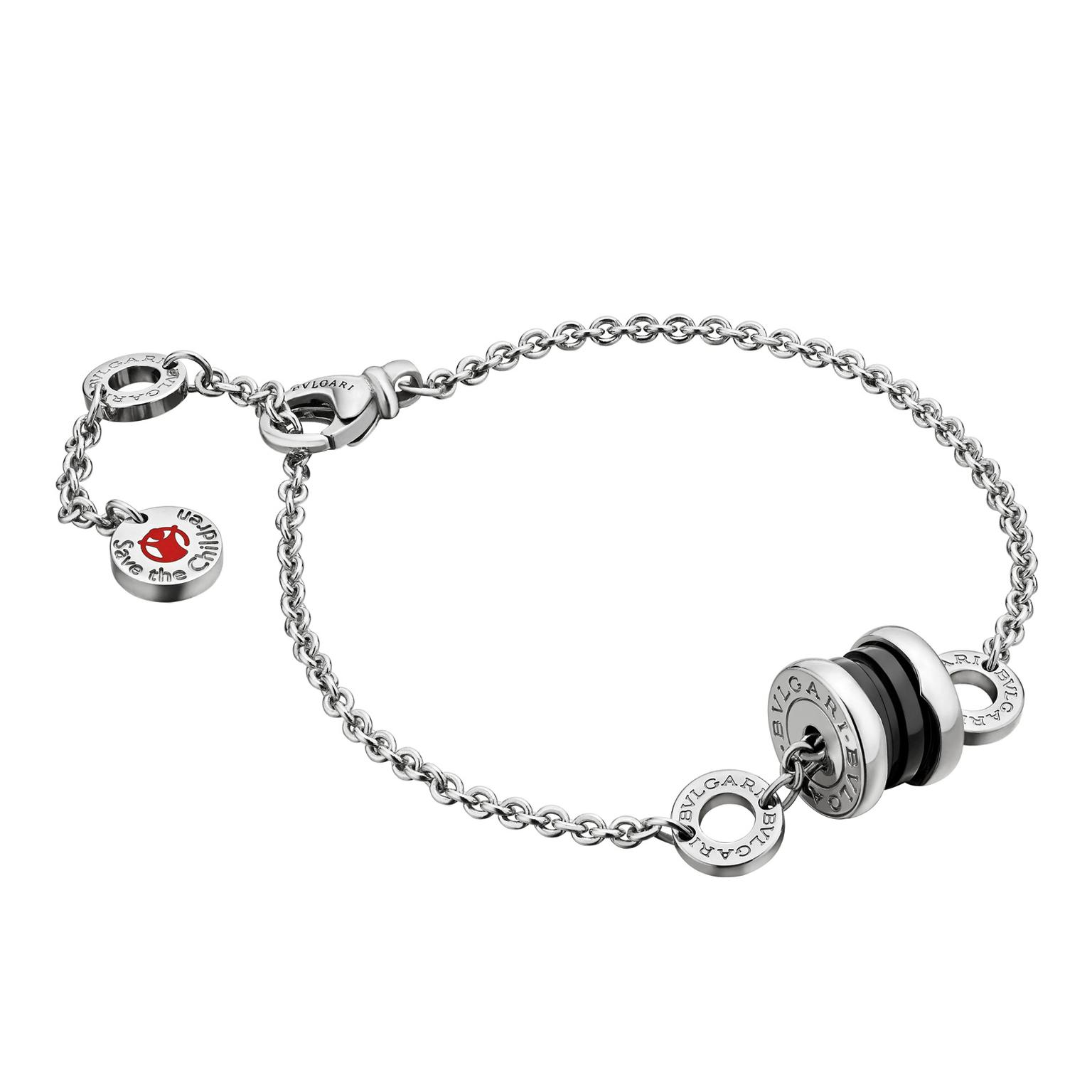 Bulgari Save the Children bracelet in silver and enamel