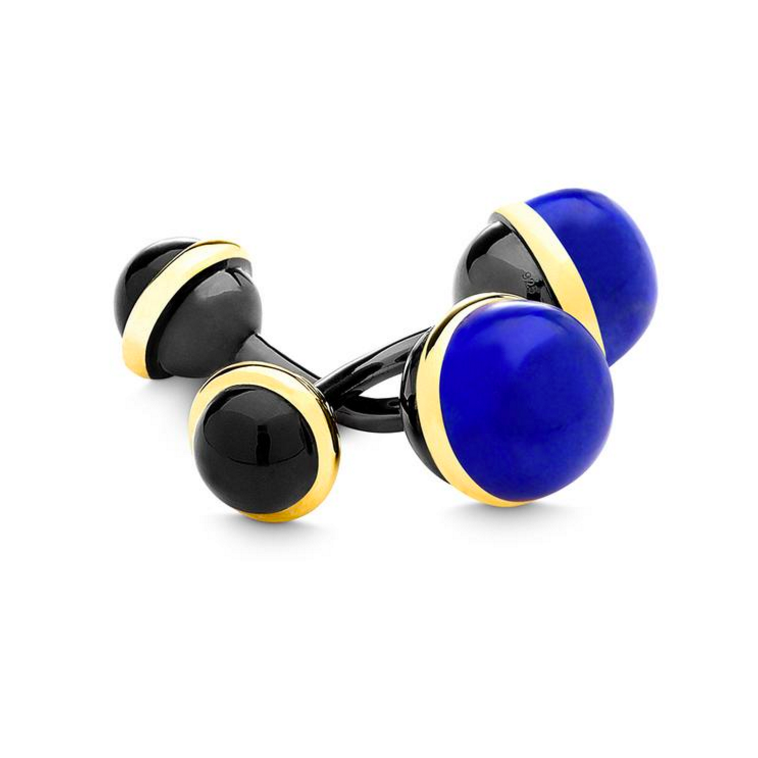 Syna lapis lazuli and black onyx cufflinks