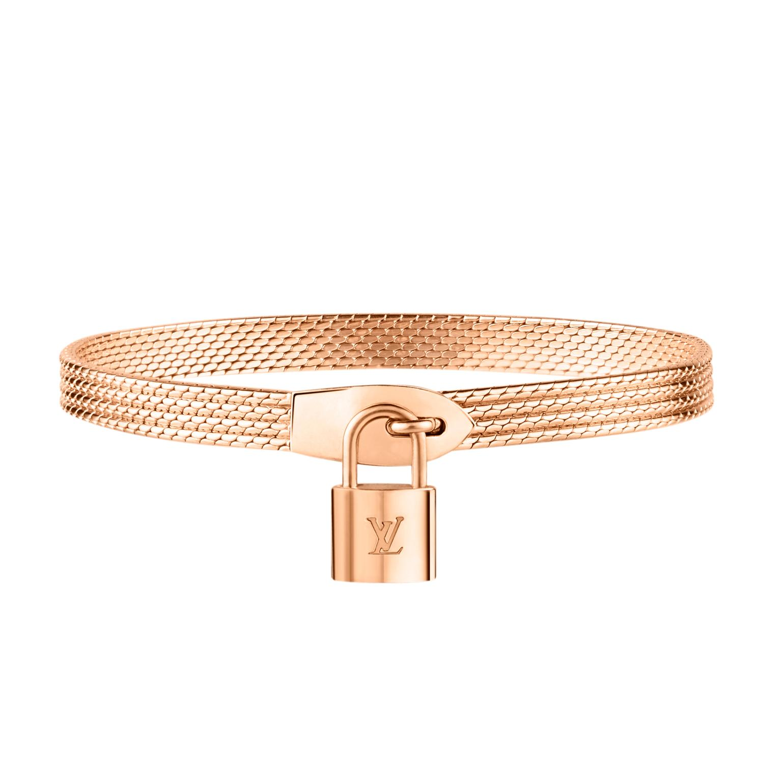 Louis Vuitton Lockit Bracelet rose gold
