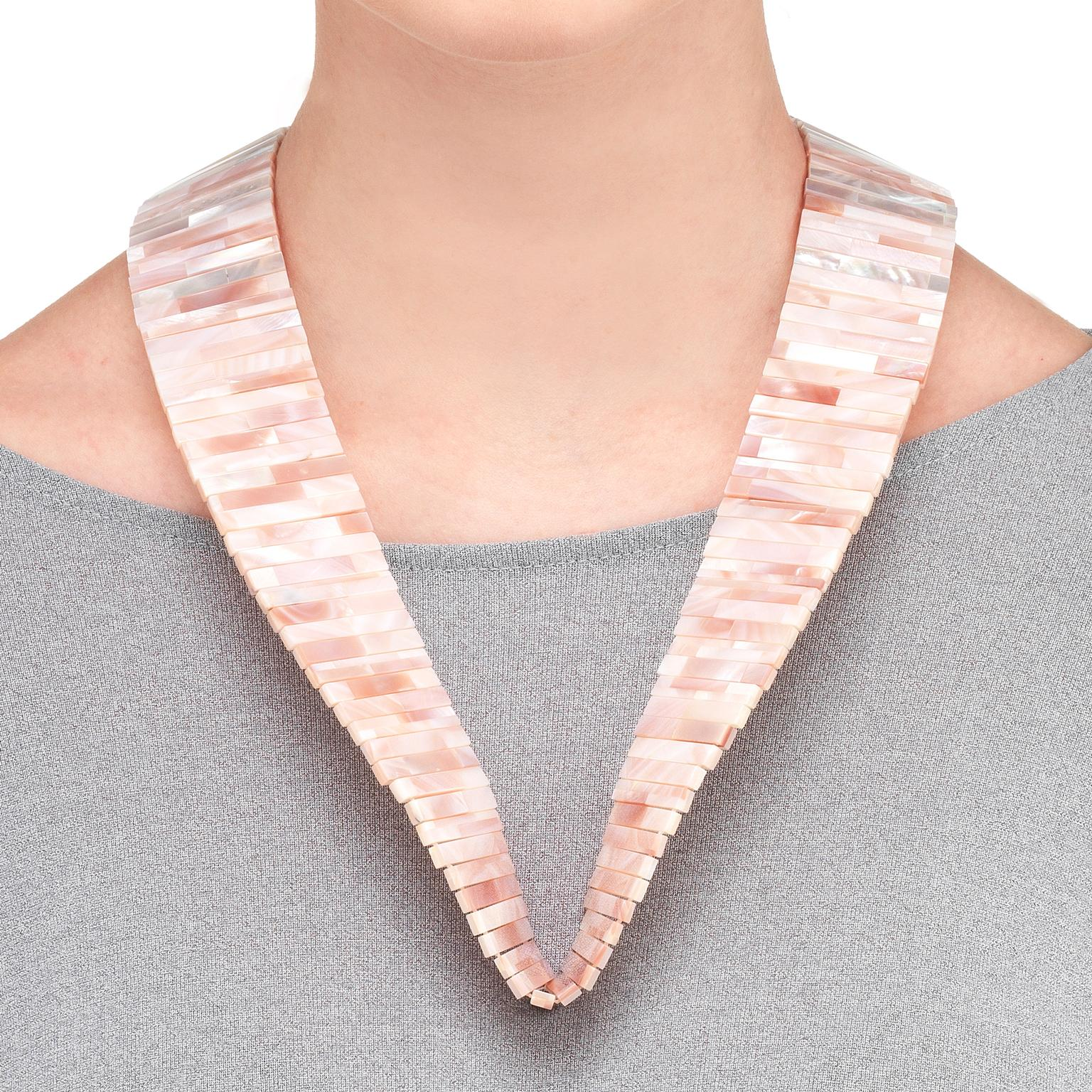 Melanie Georgacopoulos MOP Shell mother-of-pearl necklace