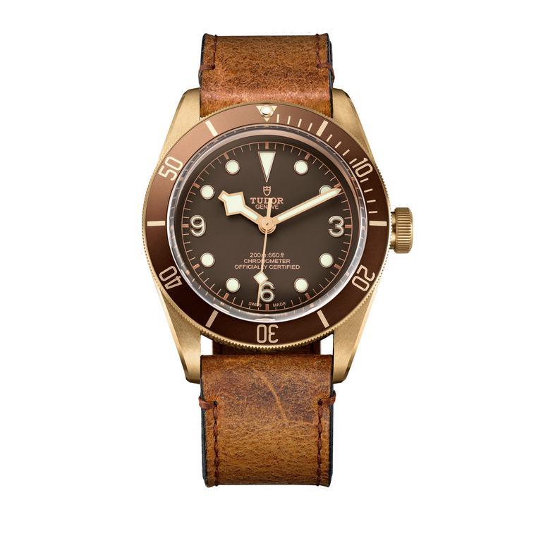 Tudor Black Bay Bronze watch - leather strap