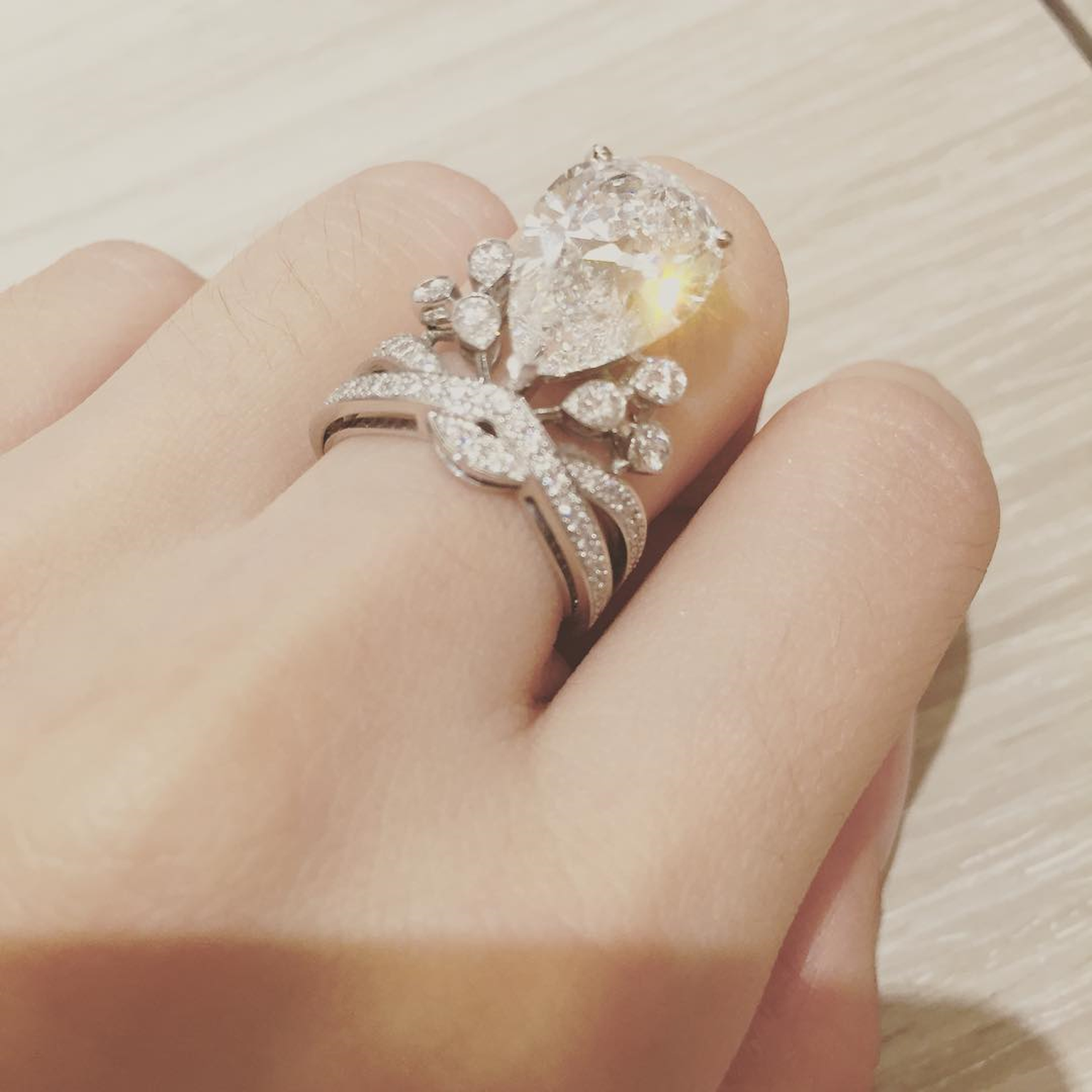 Angelababy Chaumet diamond engagement ring