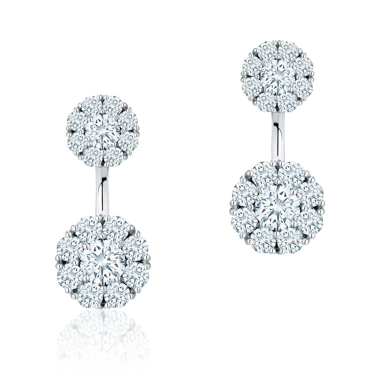 Birks Snowflake round diamond jacket earrings as worn by Meghan Markle Price £5250