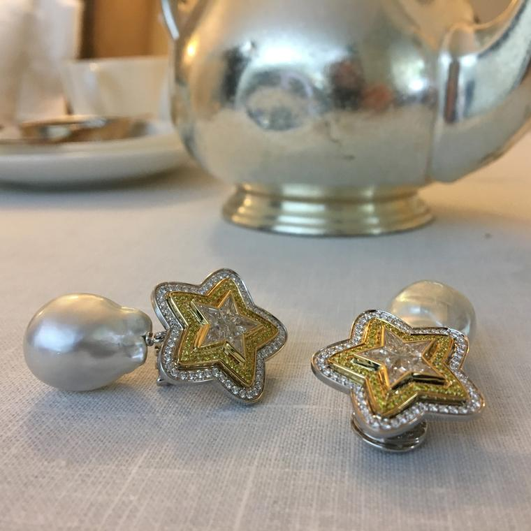 Margot McKinney Star baroque pearl earrings