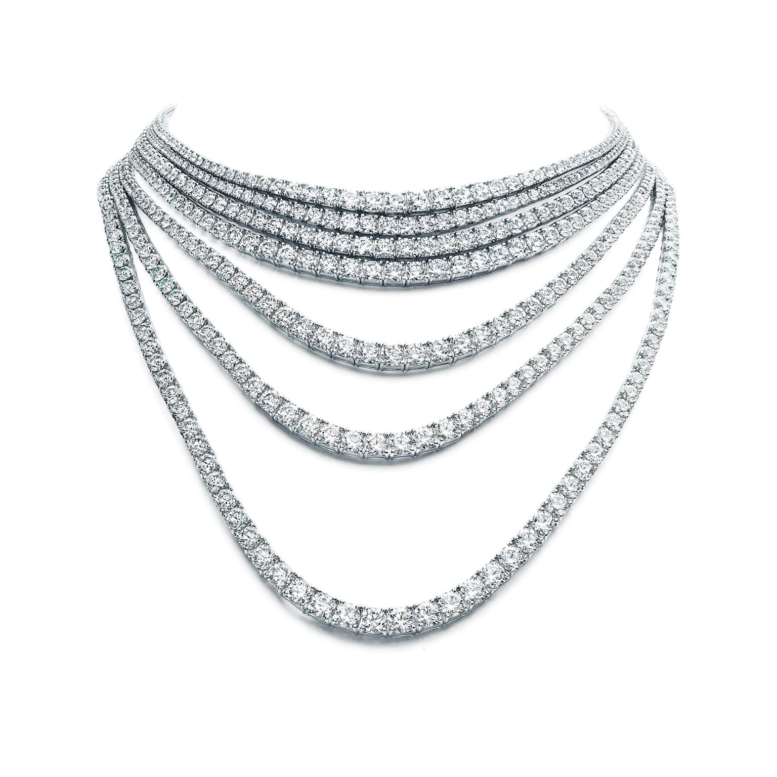 Tiffany Masterpieces Ribbons seven-strand diamond necklace