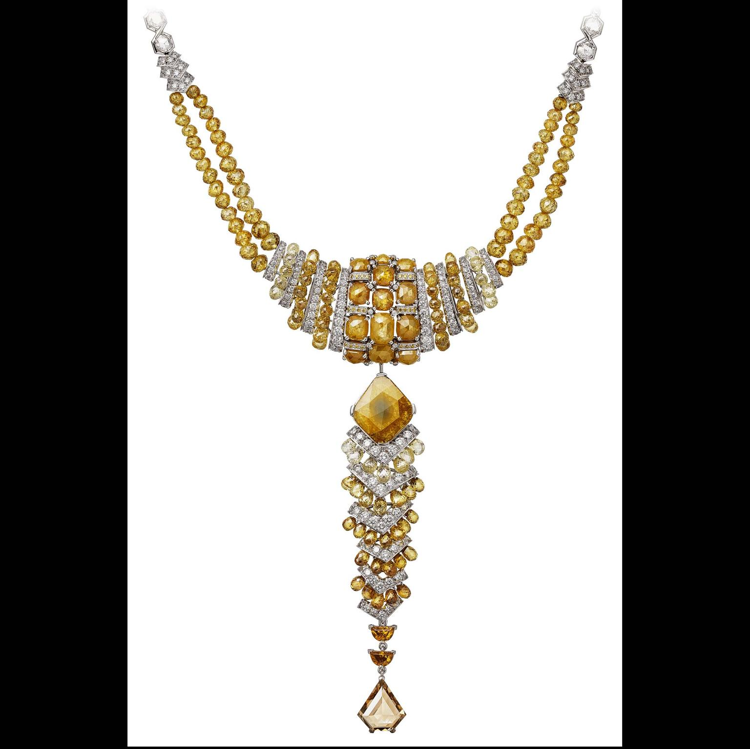 Cartier Magnitude Yuma necklace with yellow diamonds