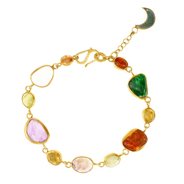 Pippa Small gold-plated silver and amethyst bracelet