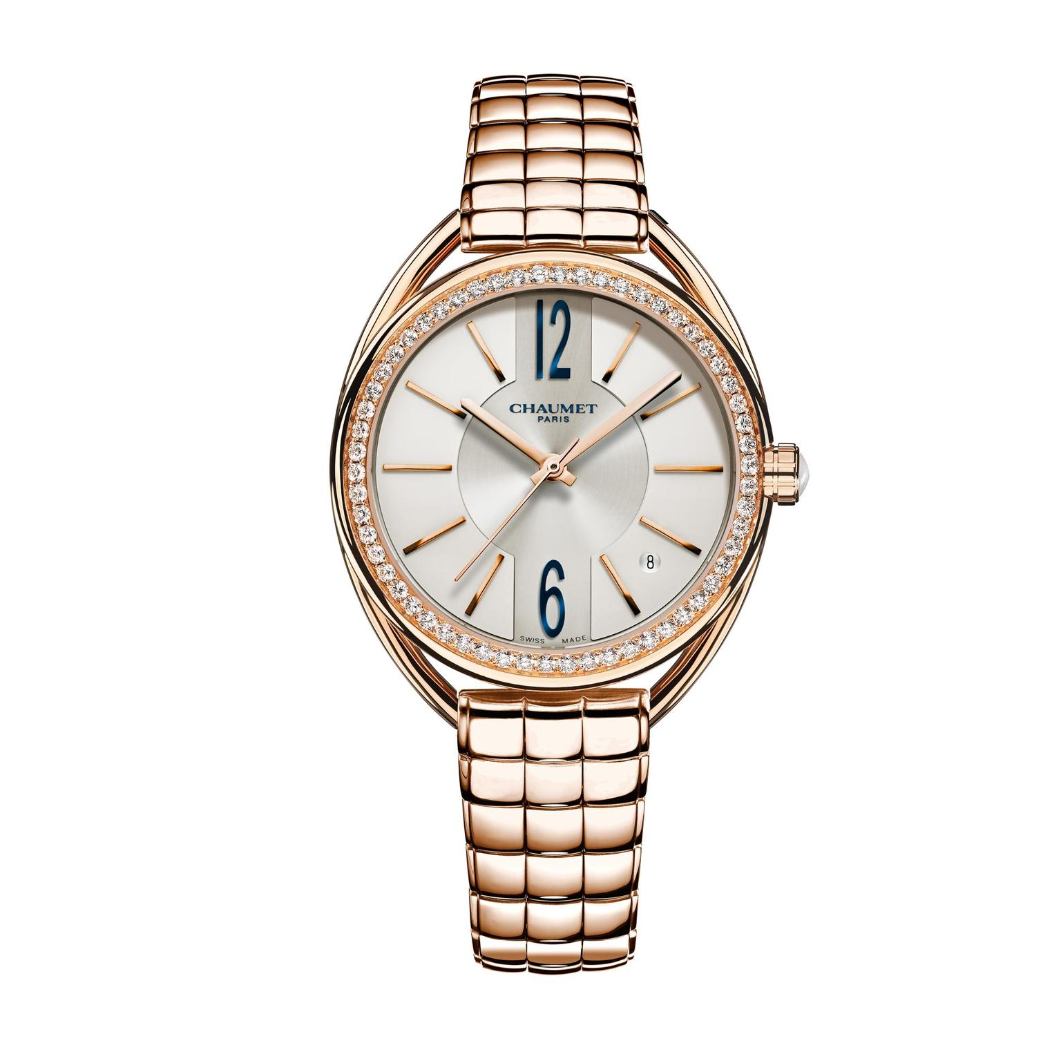 Liens de Chaumet pink gold watch with diamonds