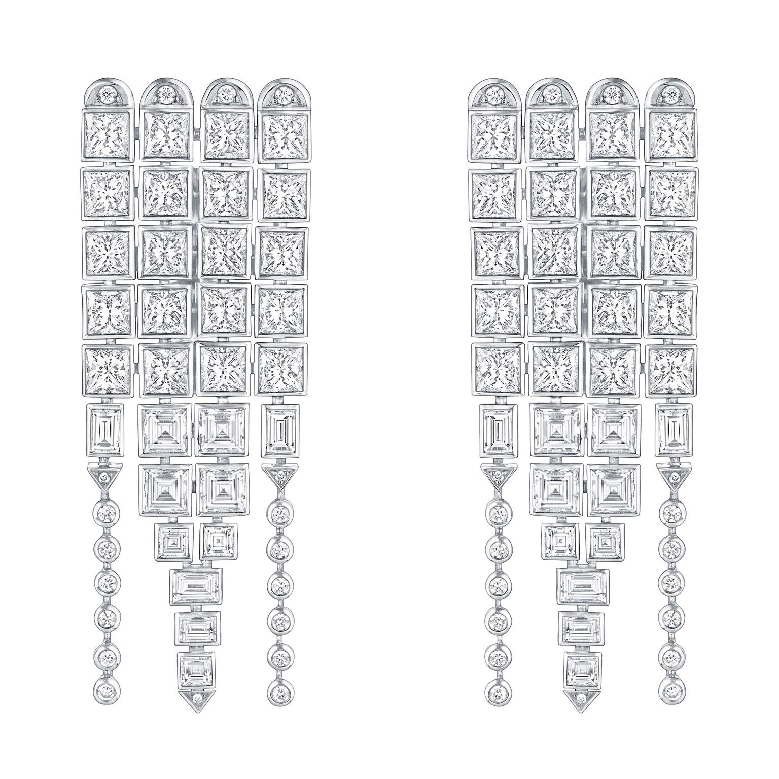 Louis Vuitton Riders of the Knights Le Royaume diamond earrings