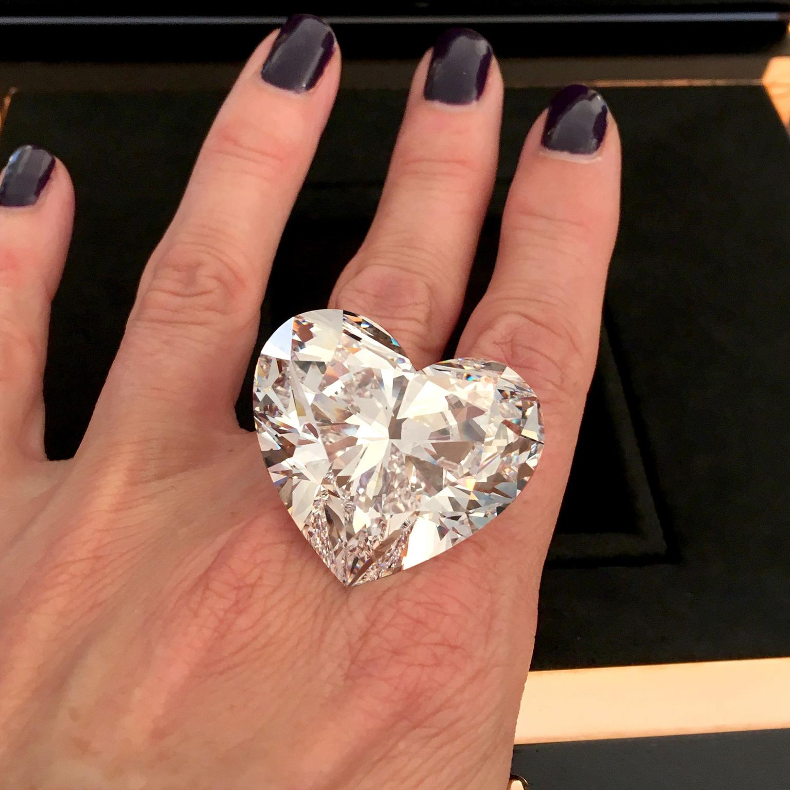 Graff Venus: 118 carat record-breaking flawless heart shape diamond
