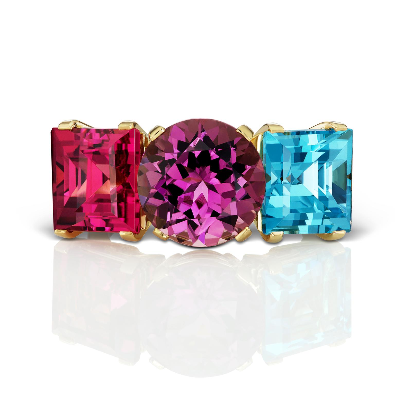 Jane Taylor Fireworks tourmaline and topaz ring