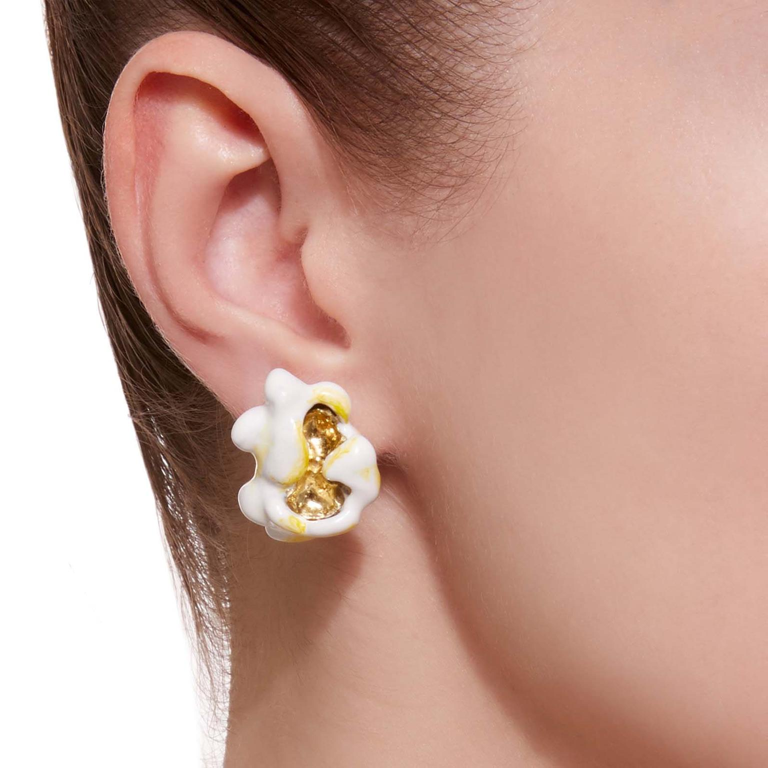 Luz Camino Pop Corn earrings on