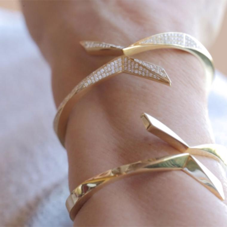 Octium Twist Collection gold bracelets