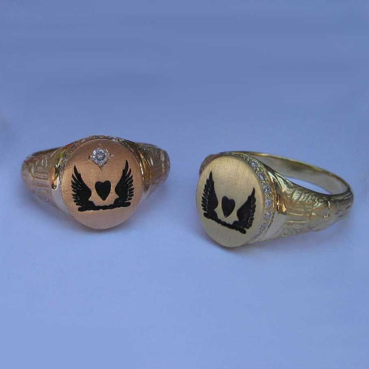 Susan Cohen Protector of Love ring circa 1700
